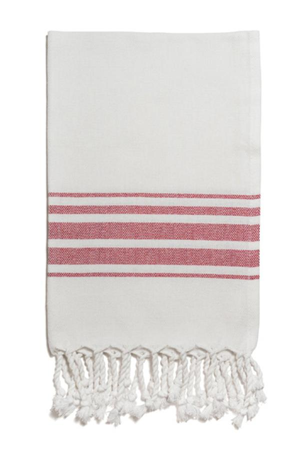 Hampden Hand Towel in Vermilion from Olive & Loom