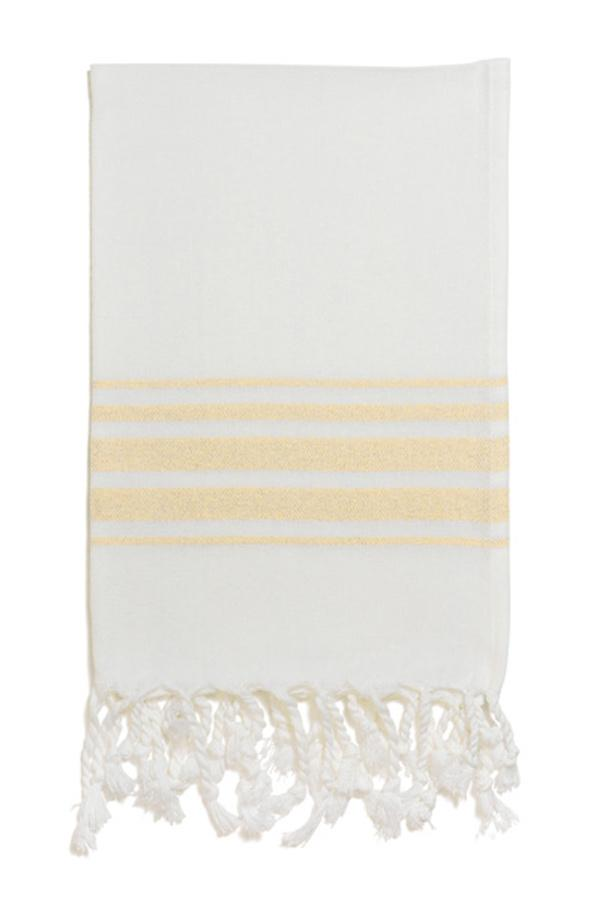Hampden Hand Towel in Yellow from Olive & Loom