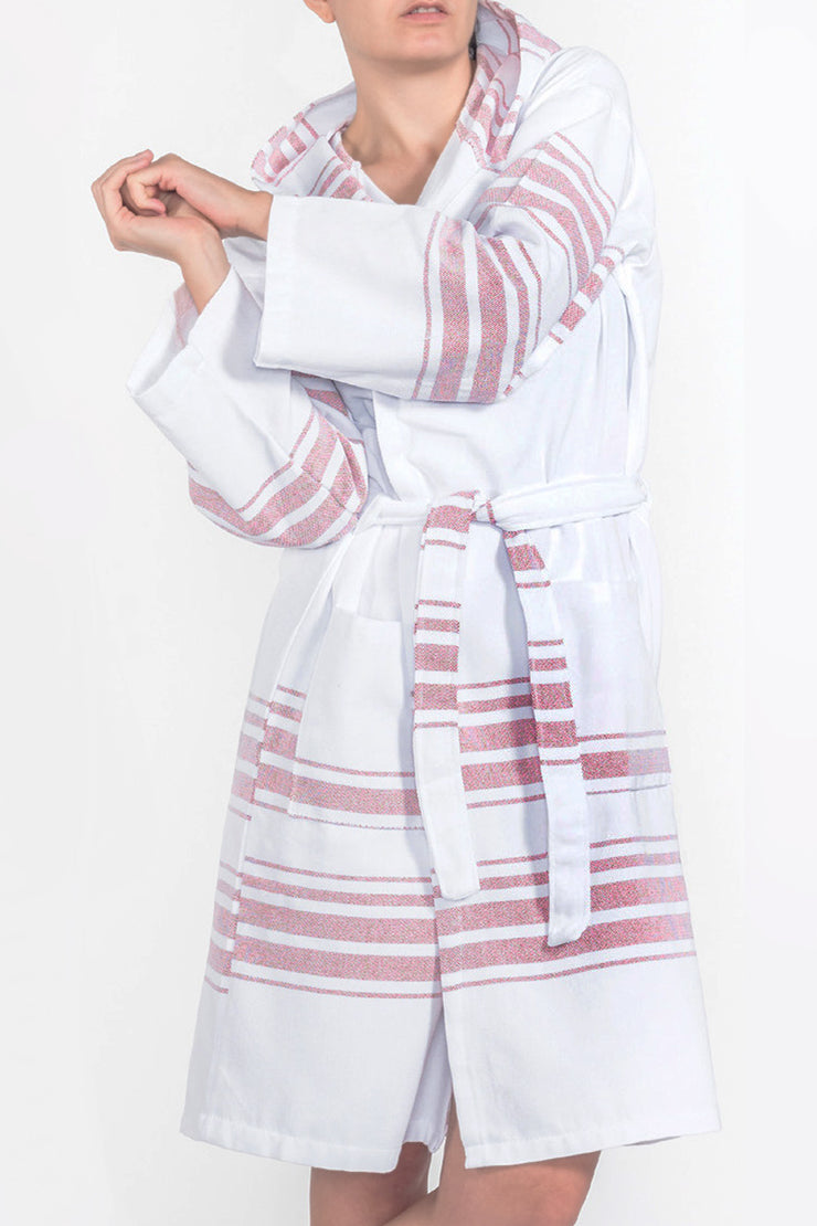 Hampden Spa Robe in Vermilion from Olive & Loom
