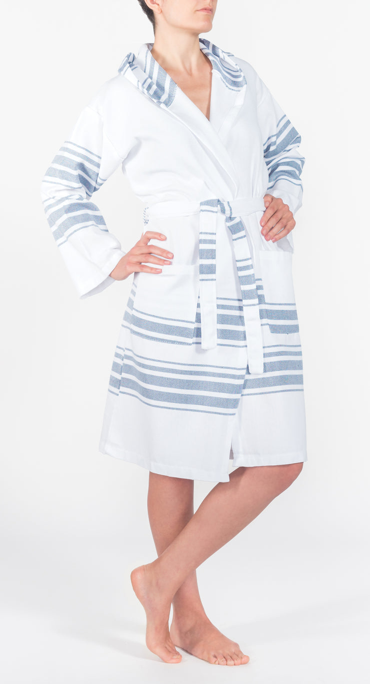 Hampden Spa Robe in Navy from Olive & Loom