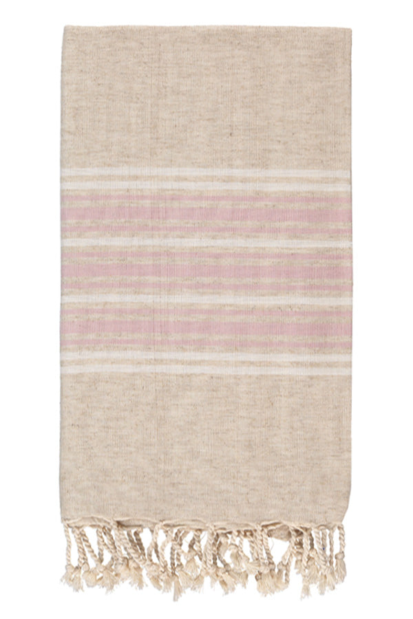 Luxe Linen Body Peshtemal in Pale Rose from Olive and Loom