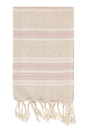 Luxe Linen Hand Peshtemal in Pale Rose from Olive and Loom