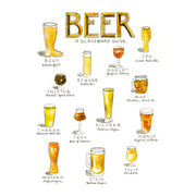 Beer Art Print by Marcella Kriebel