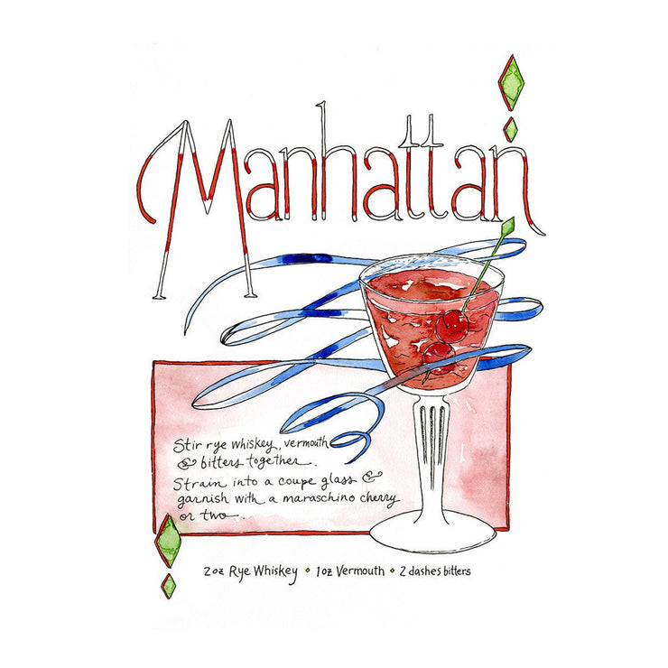 Manhattan Art Print by Marcella Kriebel