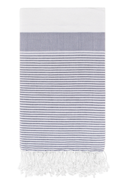 Roman Pencil Stripe Peshtemal in Gray from Olive and Loom