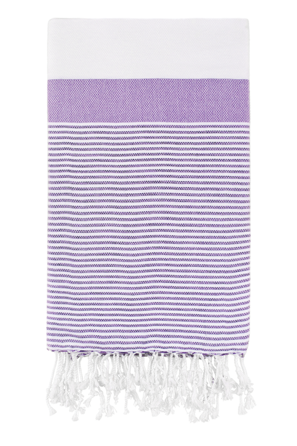Roman Pencil Stripe Peshtemal in Lavender from Olive and Loom