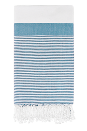 Roman Pencil Stripe Peshtemal in Turquoise from Olive and Loom