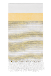 Roman Pencil Stripe Peshtemal in Yellow from Olive and Loom