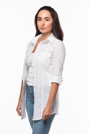 Straight Collar Shirt in White from Olive & Loom