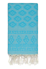 Vintage Kilim Body Peshtemal in Turquoise from Olive and Loom