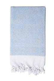 Blue Candy Stripe Hand Towel from Olive & Loom