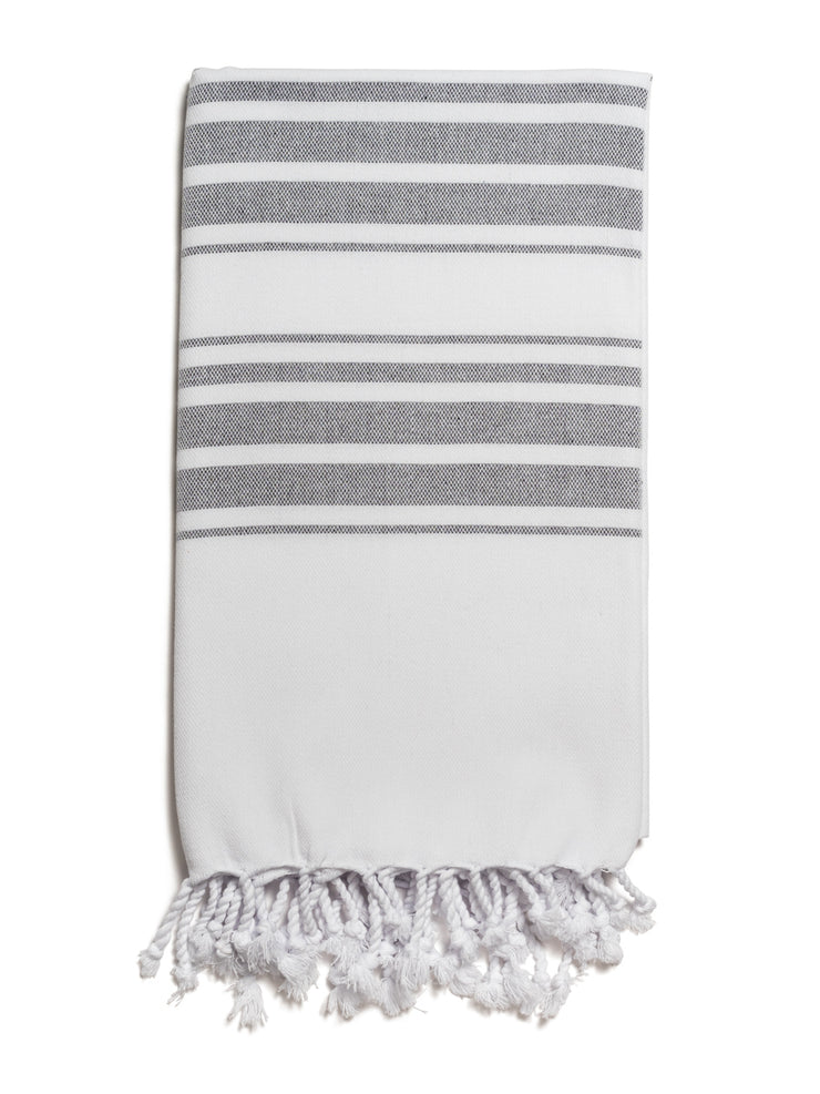 Hampden Towel in Charcoal from Olive & Loom