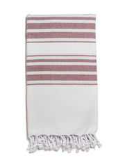 Hampden Towel in Bordeaux from Olive & Loom