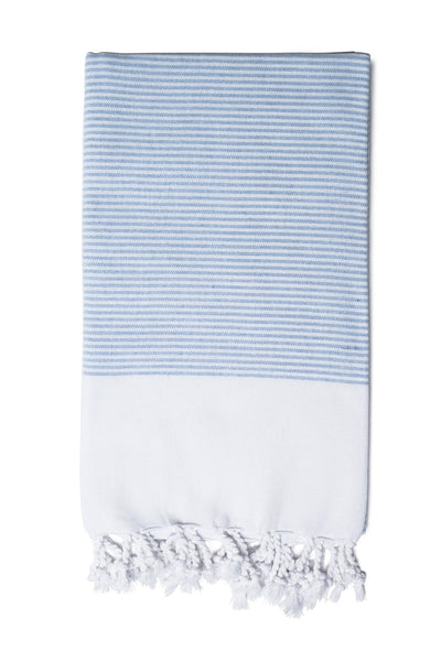 Rose Red Candy Striped Hand Towel from Olive & Loom
