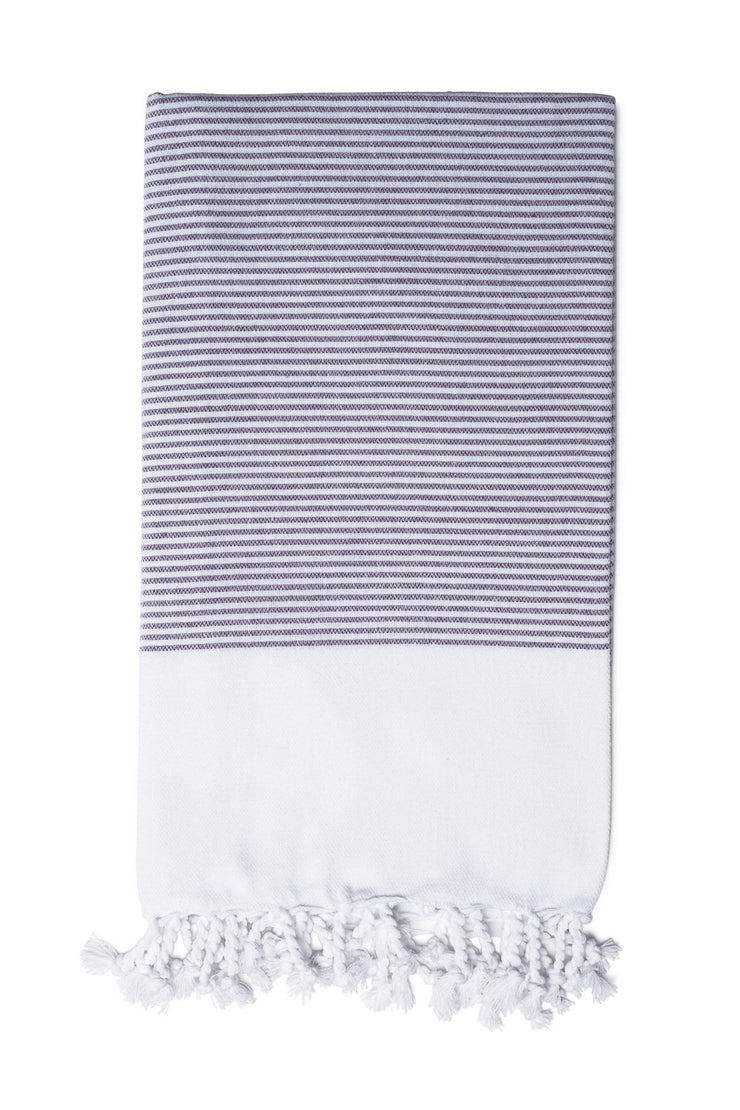 Purple Candy Striped Body Towel from Olive & Loom