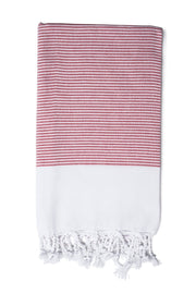 Vermilion Candy Striped Hand Towel from Olive & Loom