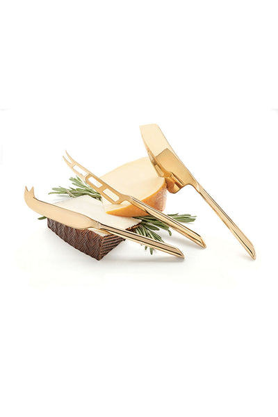 Gold Plated Knife Set