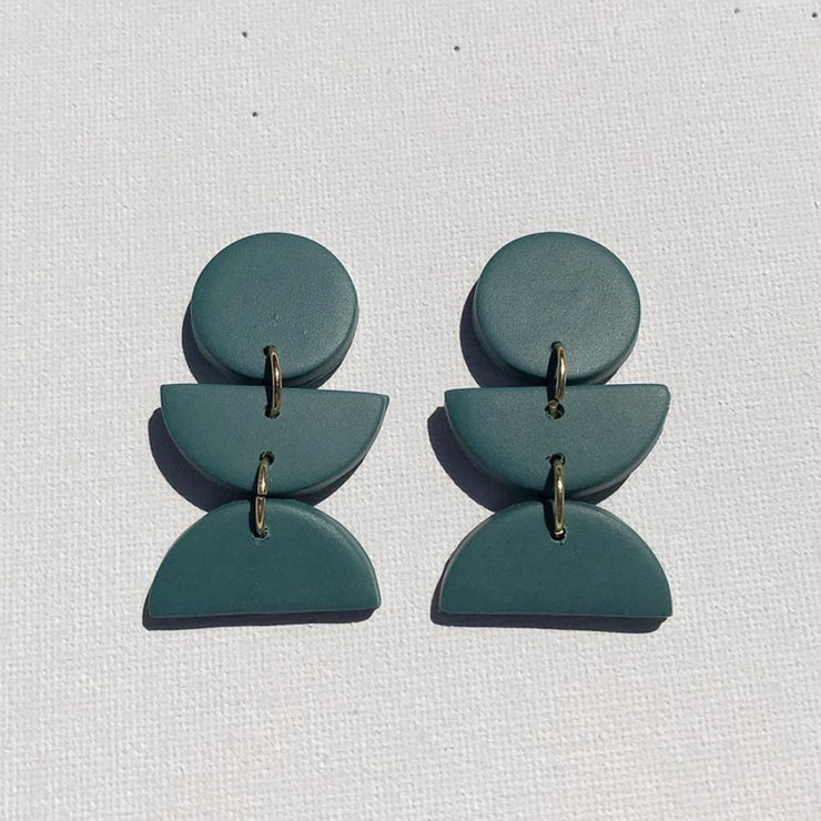Emerald Dahlia Earrings from Sigfus