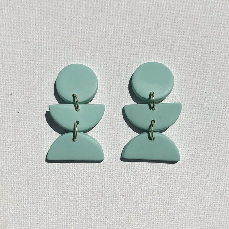 Mint Dahlia Earrings from Sigfus
