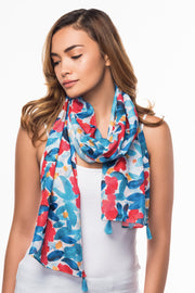 Cotton Scarf with Floral print from Olive & Loom