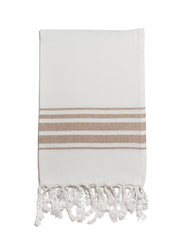 Hampden Towel in Milk Coffee from Olive & Loom