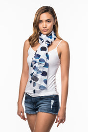 Cotton Scarf with Indigo Spot print from Olive & Loom