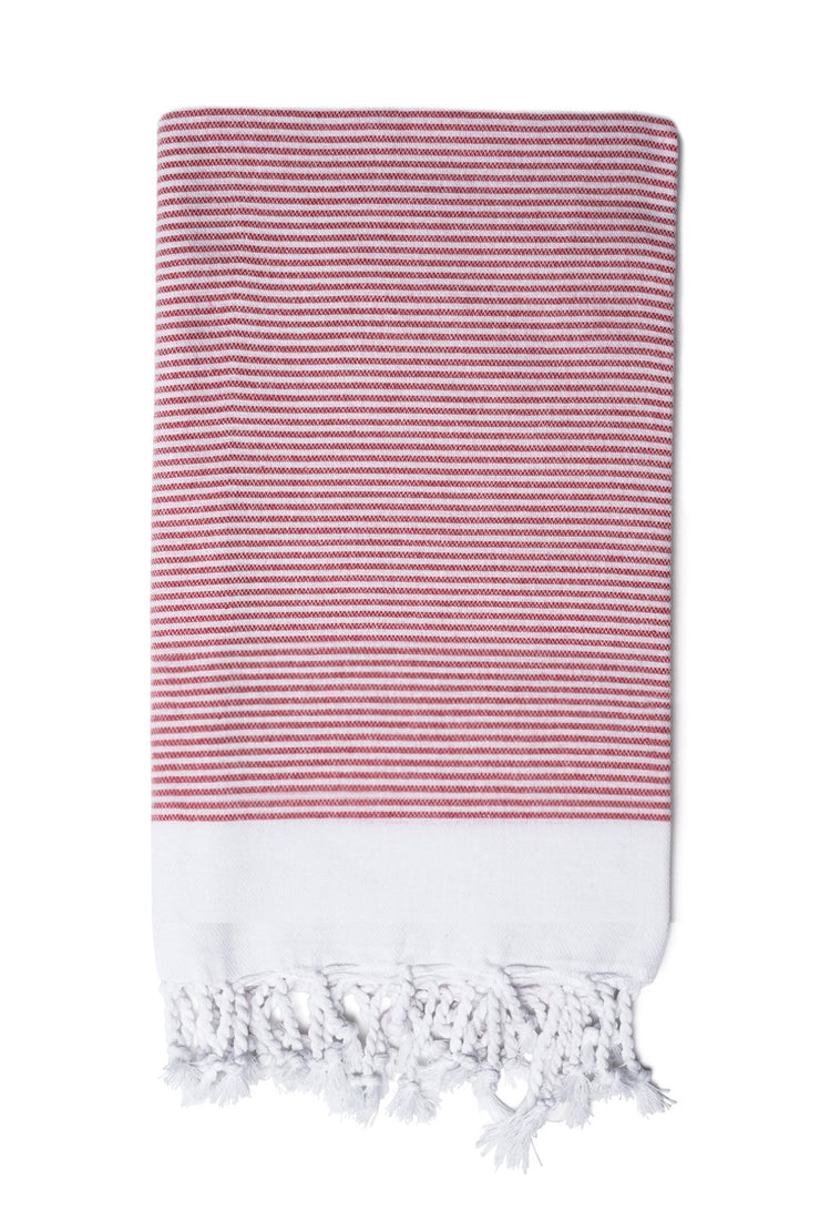 Vermilion Stripe Hand Towel from Olive & Loom