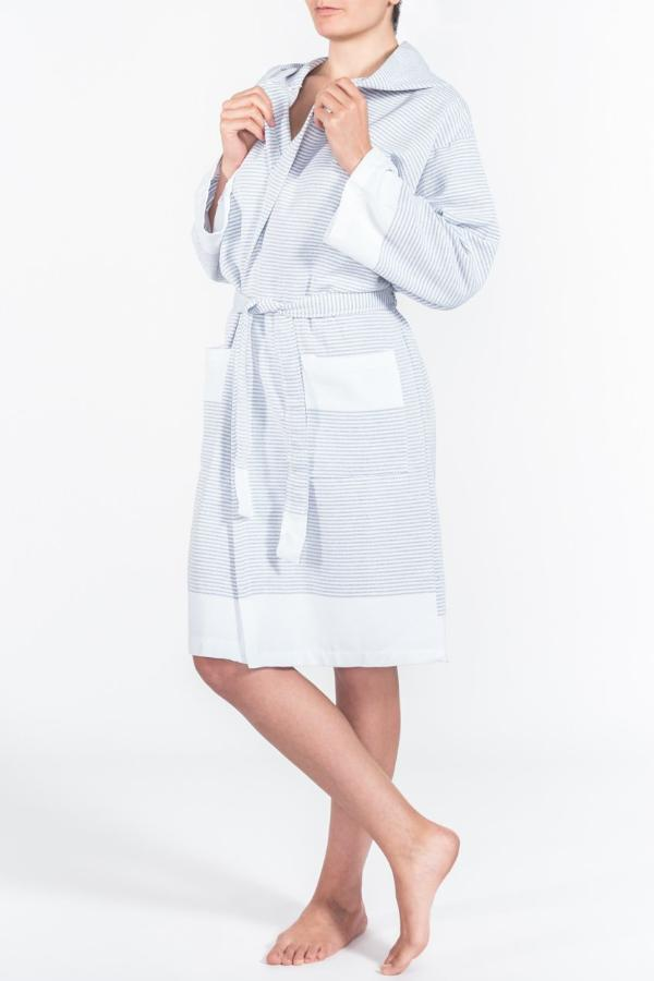 Candy Stripe Robe in Charcoal