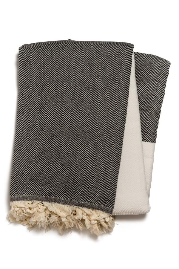 Babylon Throw in Charcoal