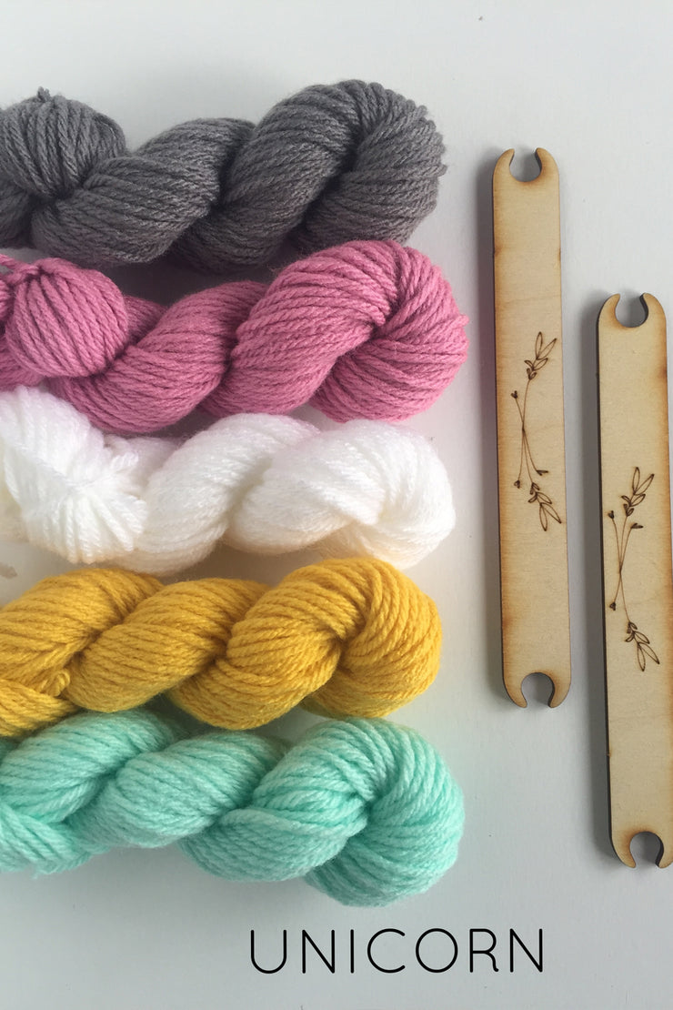 Unicorn Weaving Kit from Black Sheep Goods