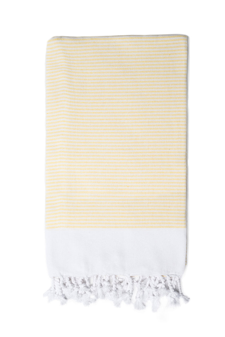 yellow Candy Stripe Hand Towel from Olive & Loom