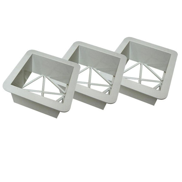 "Set of 3, 15"" Premium Base Covers with Ground Mounts and Plugs"