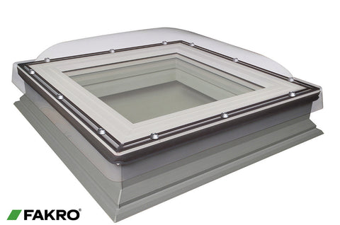 DXC-C P2 Fixed Shut Double Glazed + Polycarbonate Dome, Domed Flat Roof Window 100x100