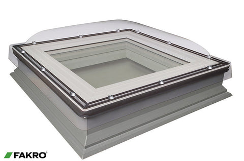 DMC-C P2 Manually Operated Double Glazed + Polycarbonate Dome, Domed Flat Roof Window 60x60
