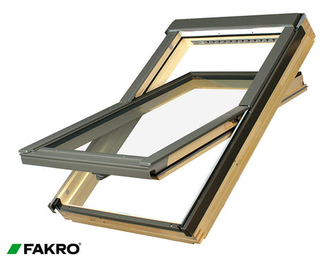 FTP-V U3 Natural Pine, Toughened Double Glazed Centre Pivot Window 78x98