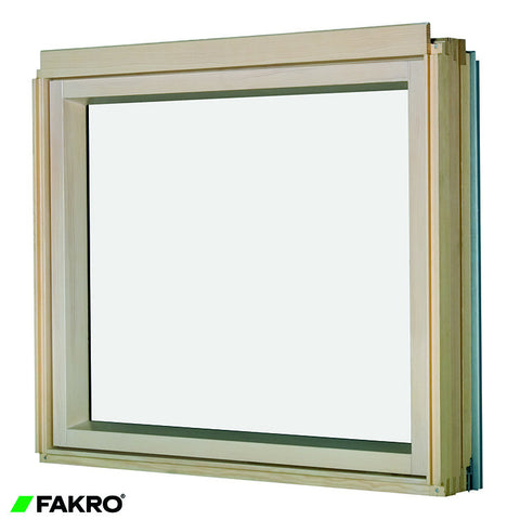 BXP P2 Natural Pine, Laminated Double Glazed Fixed Shut  L-Shape Combination Window 78x75