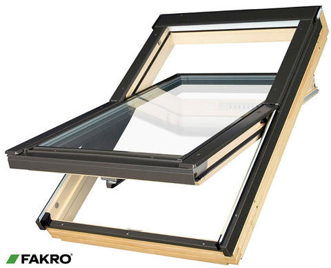 FTT U6 Natural Pine, Highly Energy Efficient, Triple Glazed Centre Pivot Window 55x98