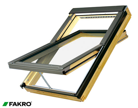 FTP-V P2 Z-Wave Natural Pine Electrically Operated Centre Pivot Window 78x140
