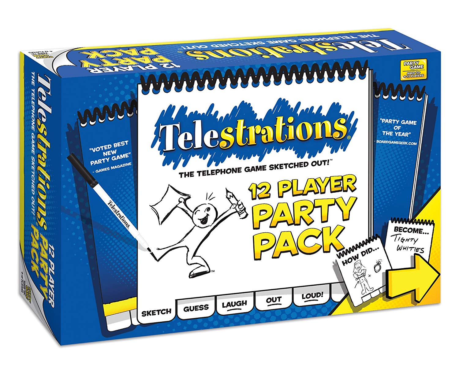 Telestrations: 12 Player Party Pack | By The Board Games & Entertainment