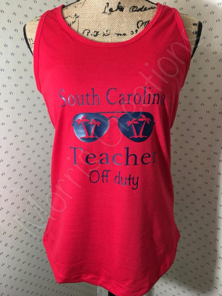 SC Teacher Off Duty Tank Top