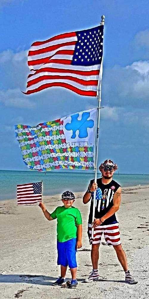 Father Raises A Flag To Raise Awareness Of Autism