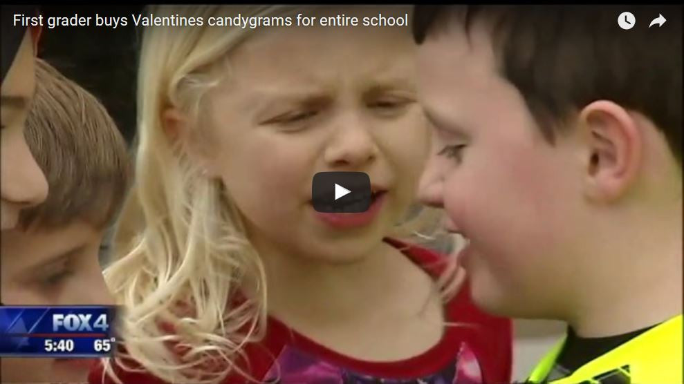 First Grader Buys Valentines Candy Grams For Entire School