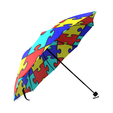 Autism - Puzzle Pieces Foldable Umbrella