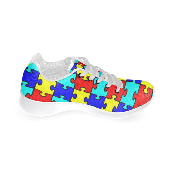 Women's Autism Puzzle Pieces Running Style Shoes