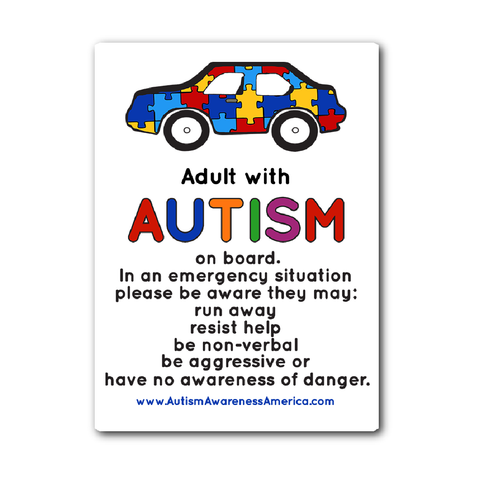 Autism Adult Car Sticker Decal