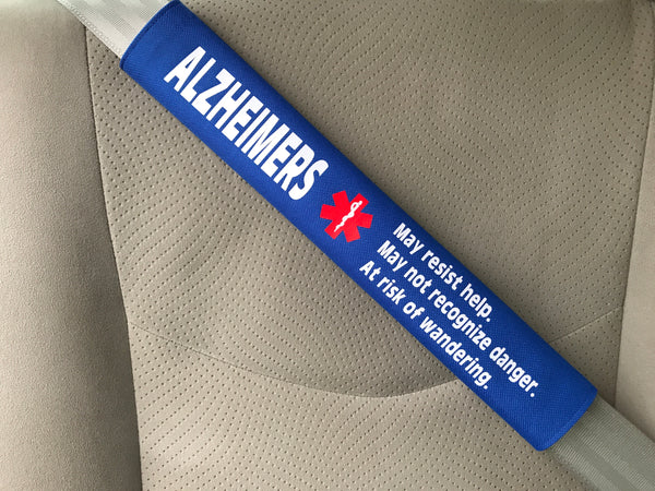 Alzheimer's Alert Safety Seatbelt Cover