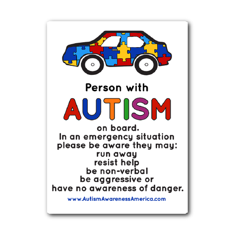 Autism Person Car Sticker Decal