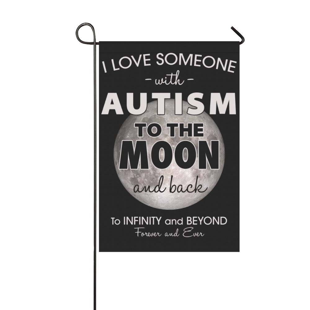Autism Love Moon GARDEN Flag