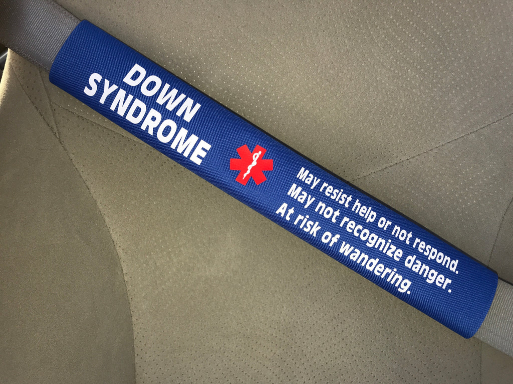 Down Syndrome Alert Safety Seatbelt Cover