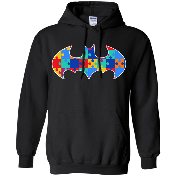 Autism Awareness Puzzle Pieces Bat - Adult